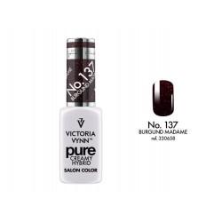 Victoria Vynn - KREMOWY LAKIER HYBRYDOWY kolor: Burgund Madame 8 ml (137)