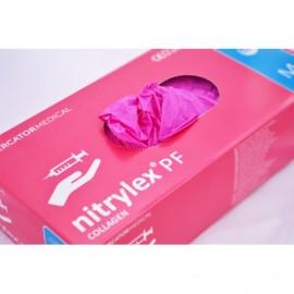 Rękawiczki nitrylowe różowe r M