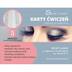 Karty ćwiczeń Secret Lashes