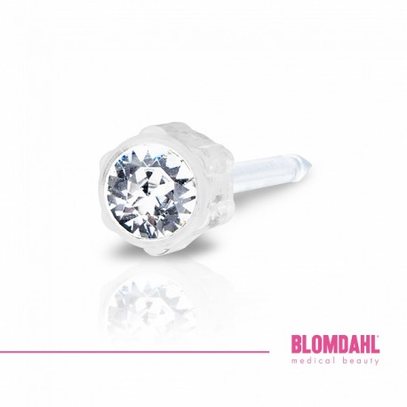 Blomdahl Kolczyki 4 mm Crystal