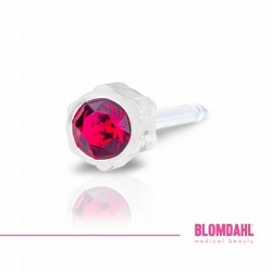 Blomdahl Kolczyki 4 mm Ruby