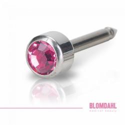 Blomdahl Srebrny Tytan Medyczny Bezel 4 mm Rose