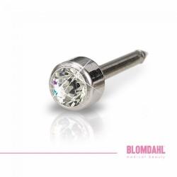 Blomdahl Srebrny Tytan Medyczny Mini Bezel 3 mm Crystal