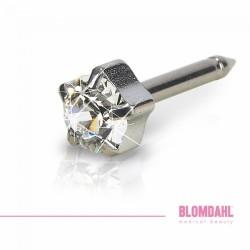 Blomdahl Srebrny Tytan Medyczny Tiffany 4 mm Crystal
