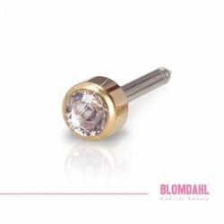 Blomdahl Zloty Tytan Medyczny Mini Bezel 3 mm Crystal