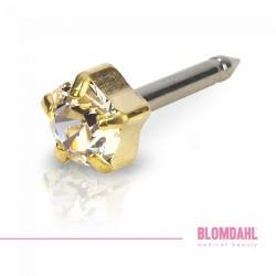 Blomdahl Zloty Tytan Medyczny Tiffany 4 mm Crystal