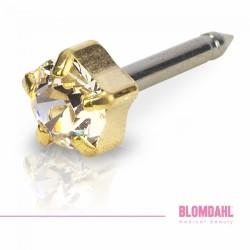 Blomdahl Zloty Tytan Medyczny Tiffany 5 mm Crystal
