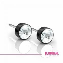 Blomdahl, Czarny tytan medyczny Bezel Crystal 5 mm SFJ