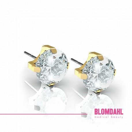 Blomdahl, Złoty tytan medyczny, Tiffany CZ White 5 mm SFJ