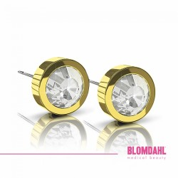 Blomdahl, Złoty tytan medyczny, Grand Bezel Crystal 8 mm SFJ