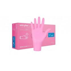 Mercator Rękawiczki diagnostyczne nitrylex pink 100szt.