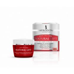 Afrodita Natural Lift 40+ Krem przeciwzmarszczkowy dla skóry normalnej, mieszanej 50 ml