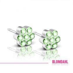 Blomdahl, Daisy Peridot/ Crystal 5 mm