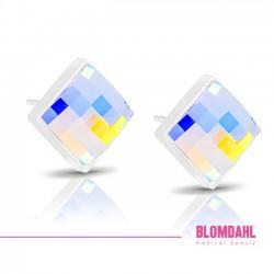 Blomdahl, Facet Square Rainbow 10 mm SFJ