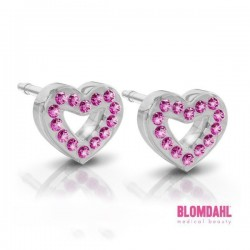 Blomdahl, Brilliance Heart Hollow Rose 10 mm