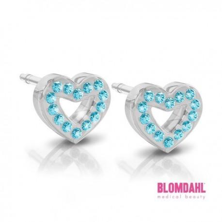 Blomdahl, Brilliance Heart Hollow blue 10 mm
