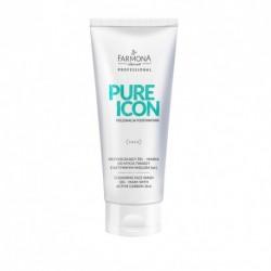 PURE ICON Oczyszczający żel – maska do mycia twarzy z aktywnym węglem 200ml