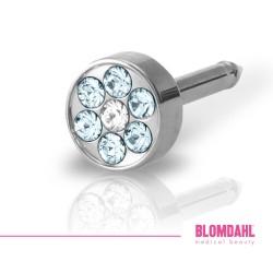 Blomdahl Brilliance Plenary Aquamarine/ Crystal 5 mm