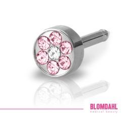 Blomdahl Brilliance Plenary Light Rose/ Crystal 5 mm