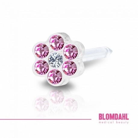 Blomdahl, Daisy Rose/ Crystal 5 mm