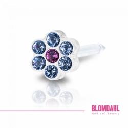 Blomdahl DAISY 5mm Alexandrite/ Rose