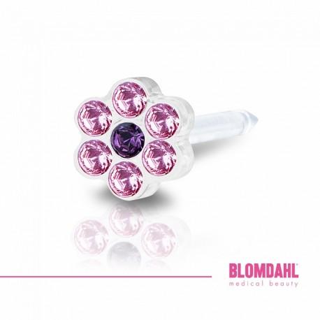 Blomdahl DAISY 5mm Light Rose/ Amethyst