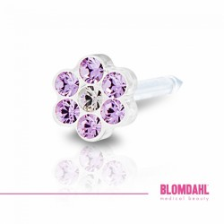 Blomdahl, Daisy Violet/ Crystal 5 mm