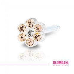 Blomdahl, Daisy Golden Rose/ Crystal 5 mm