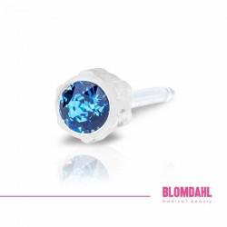 Blomdahl Kolczyki 4 mm Sapphire