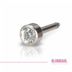 Blomdahl Naturalny Tytan Medyczny Mini Bezel 3 mm Crystal