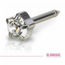 Blomdahl Naturalny Tytan Medyczny Tiffany 5 mm Crystal
