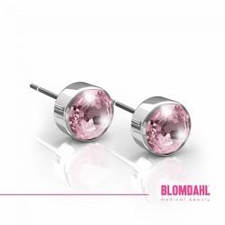 Blomdahl, Srebrny tytan medyczny, Bezel Light Rose 5 mm SFJ