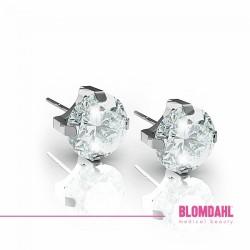 Blomdahl, Srebrny tytan medyczny, Tiffany CZ White 5 mm SFJ