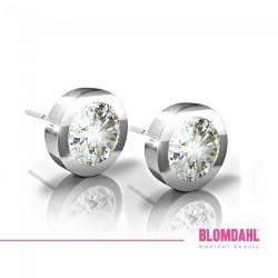 Blomdahl, Srebrny tytan medyczny, Grand Bezel Crystal 8 mm SFJ