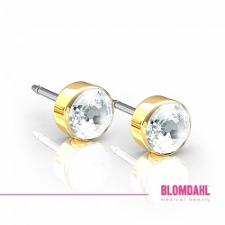 Blomdahl, Złoty tytan medyczny, Bezel Crystal 5 mm SFJ