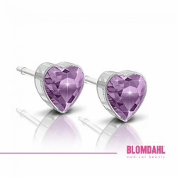 Blomdahl, Plastik medyczny, Heart Light Amethyst 6 mm SFJ